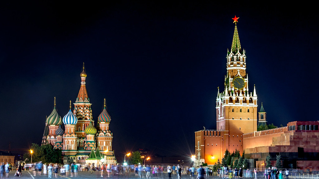 Moscow Red Square At Night 4k Wallpaper Desktop Backgrou