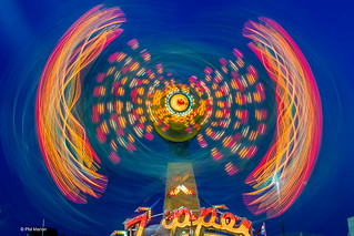 Long exposure of the Zipper midway amusement ride | by Phil Marion (173 million views - THANKS)