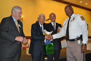 90-Year old Volunteer Congratulated | by Sheriff Gabe Morgan