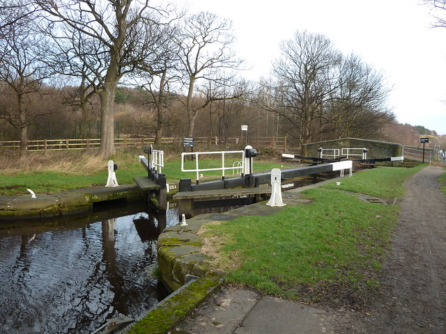 Field House Green Lock No 7 and Field House Bridge No 10 Huddersfield Broad Canal Yorkshire