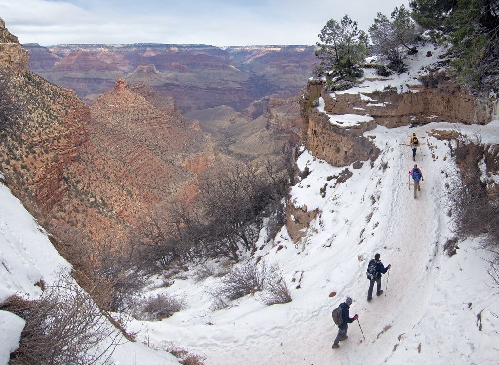 Grand Canyon National Park Bright Angel Trail Winter Hik