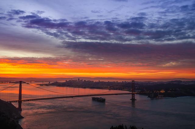 Sunrise at Golden Gate in San Francisco!
