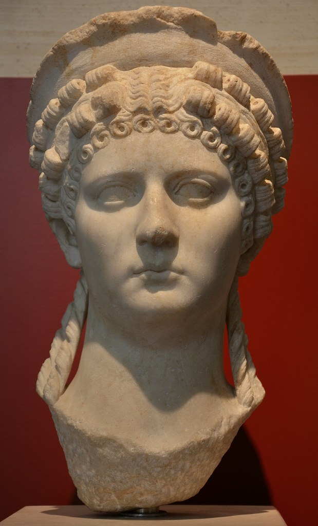 Poppaea Sabina, wife of the Emperor Nero  Marble Bust, 1st