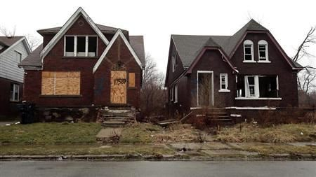 Vacant houses in Detroit