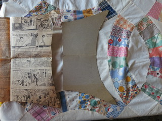 Vintage Pattern with 72 X 90  written on it