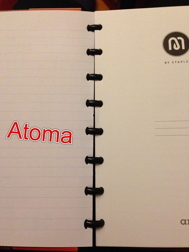 Atoma paper in Staples Arc notebook