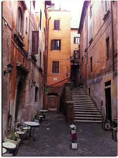 Seat of the theater of lies - lane San Simone - Rome - Italy