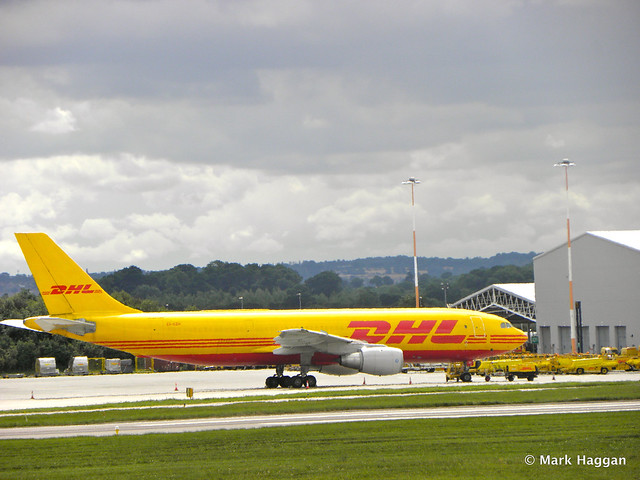 A DHL aircraft at East Midlands Airport from Donington AeroPark