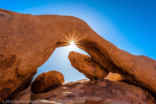 Sunburst at Arch Rock, Joshua Tree National Park, California