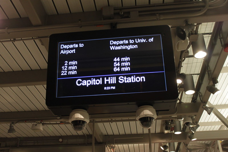 Updated Capitol Hill Station signage