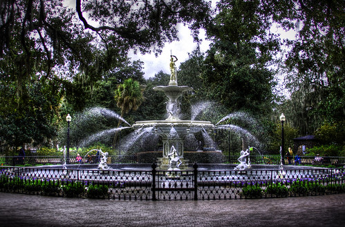 Forsyth Park Fountain   by Lord is Good