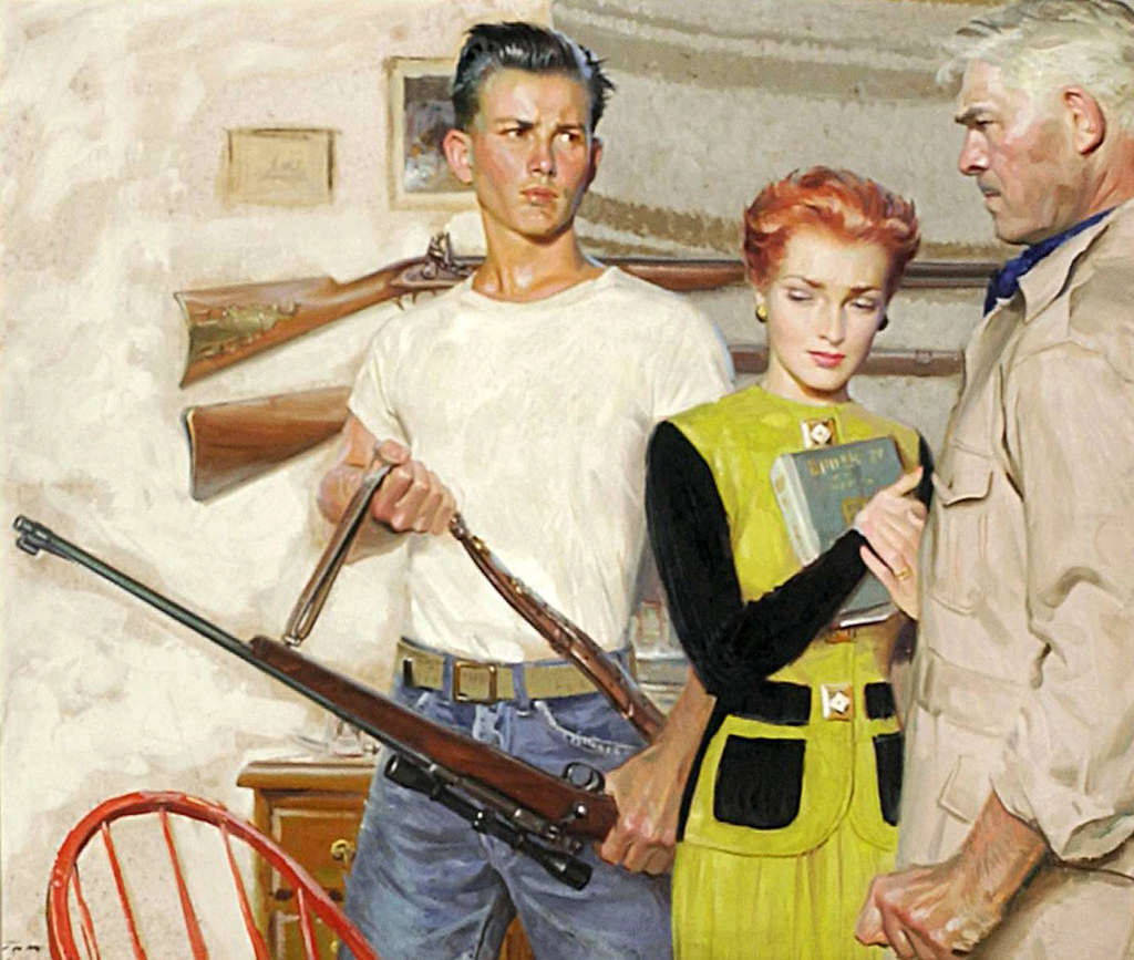 Tom Lovell A Father Son Argument With A Rifle Involved Th Flickr