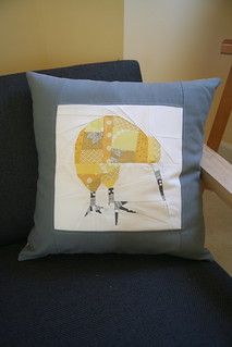 Finished Kiwi Cushion - Front | by SqueekCrafts