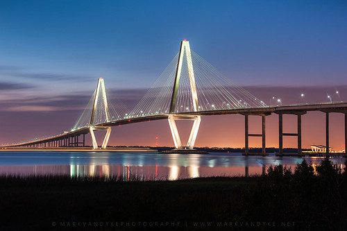 bridge sunset sc water river landscape outdoors evening pier mountpleasant scenic southcarolina peaceful diamond charleston cables transportation glowing bluehour pendulum graceful span fishingpier cooperriver us17 cablestayedbridge newcooperriverbridge downtowncharleston arthurraveneljrbridge mountpleasantmemorialwaterfrontpark