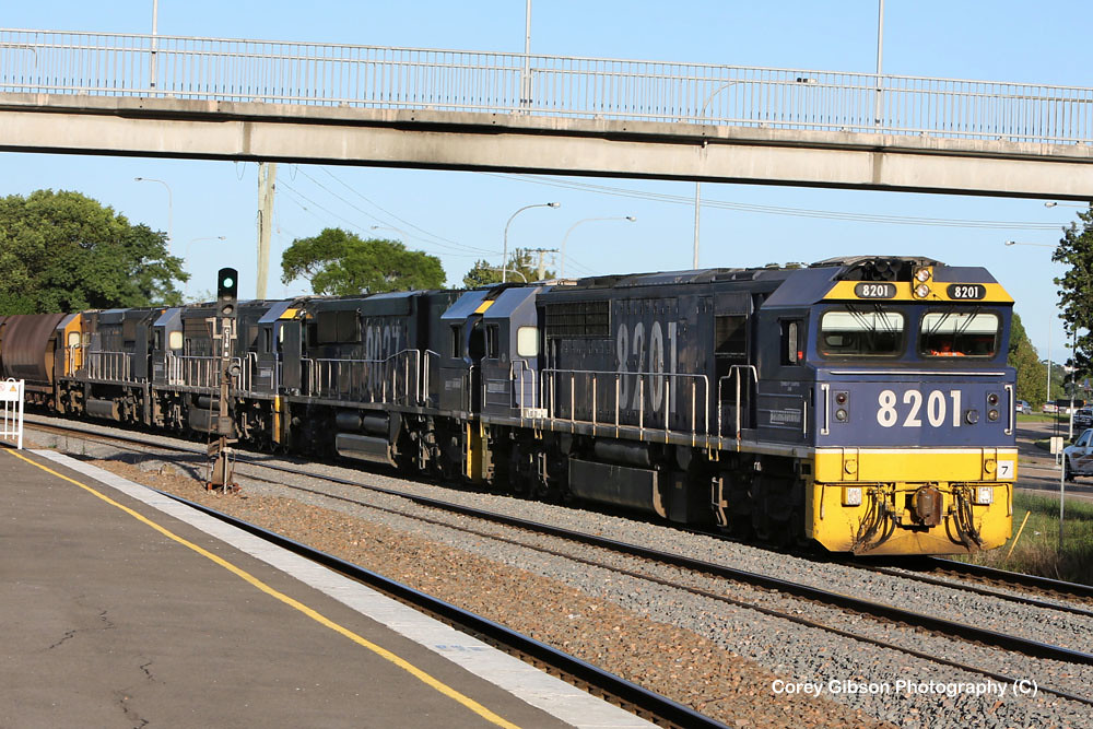 8201, 9027, 8251 & 9032 head out west again by Corey Gibson