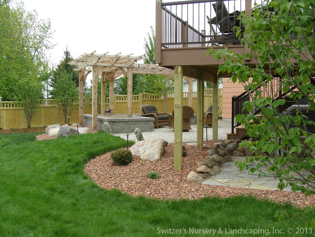 Patio Pergola Deck Minnesota Backyard Landscape Ideas Flickr