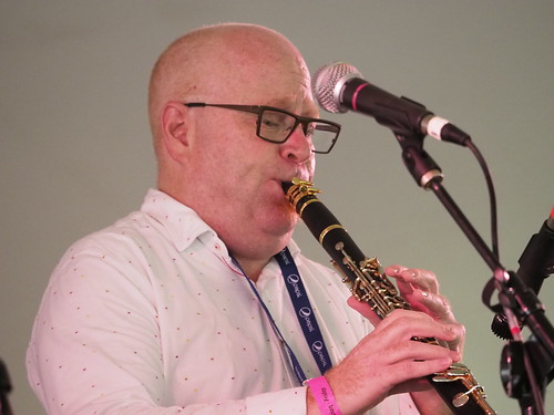 Tim Laughlin at Satchmo SummerFest - Aug. 3, 2018. Photo by Michele Goldfarb.