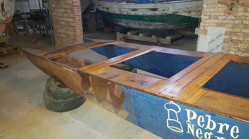 Restauració del patí L'Espineta. Final dels treballs a les drassanes de l'associació.