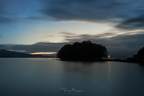 sunset seascape landscape reflection nature sky dusk cloud island omura nagasaki japan