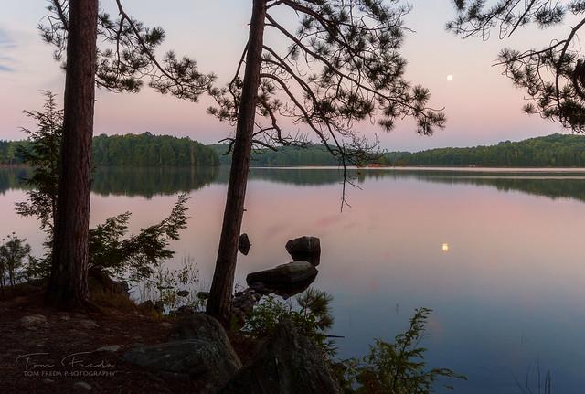 Kawartha Highlands moonrise