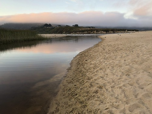 carmelriverlagoon sand beach sunrise water reflection nature camera