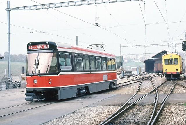 Trams de Toronto sur la ligne de l'Orbe Chavornay (Suisse)