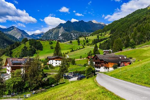 View over Prägraten, East Tyrol, Austria