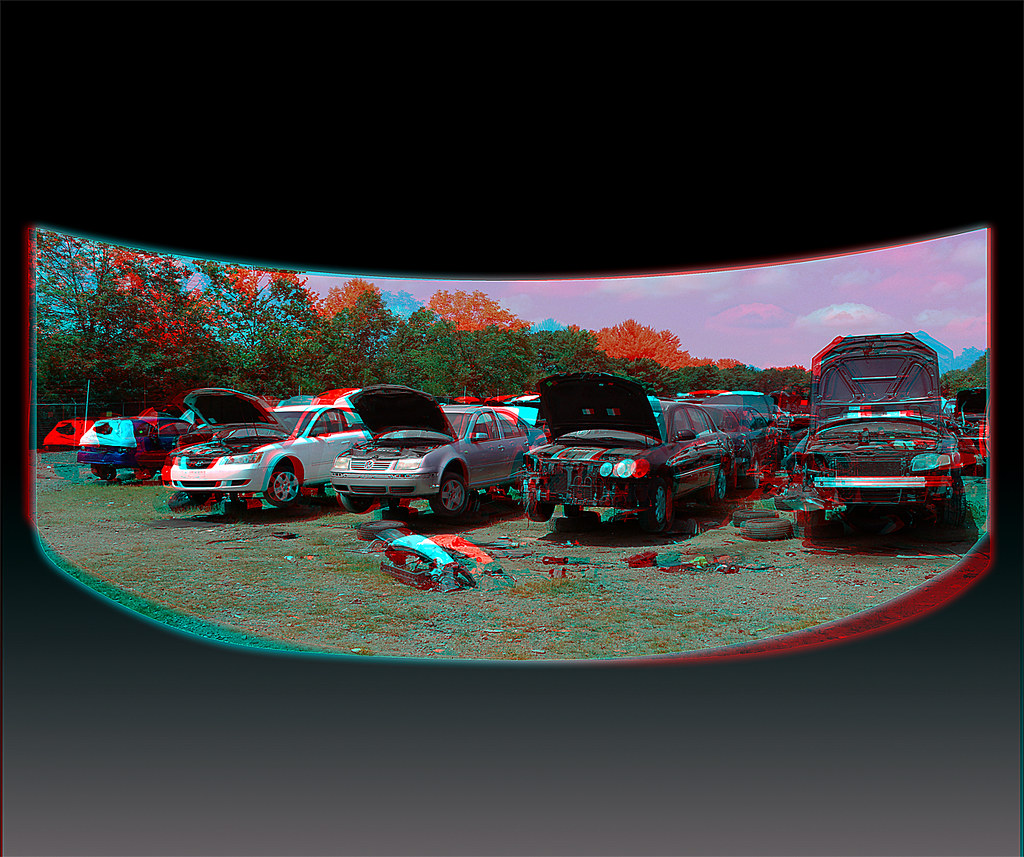 Harry's U-Pull It - Anaglyph 3D