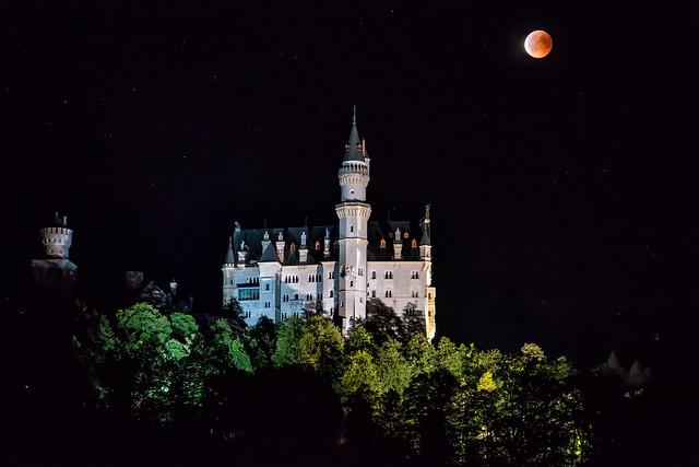 Mondfinsternis Schloss Neuschwanstein