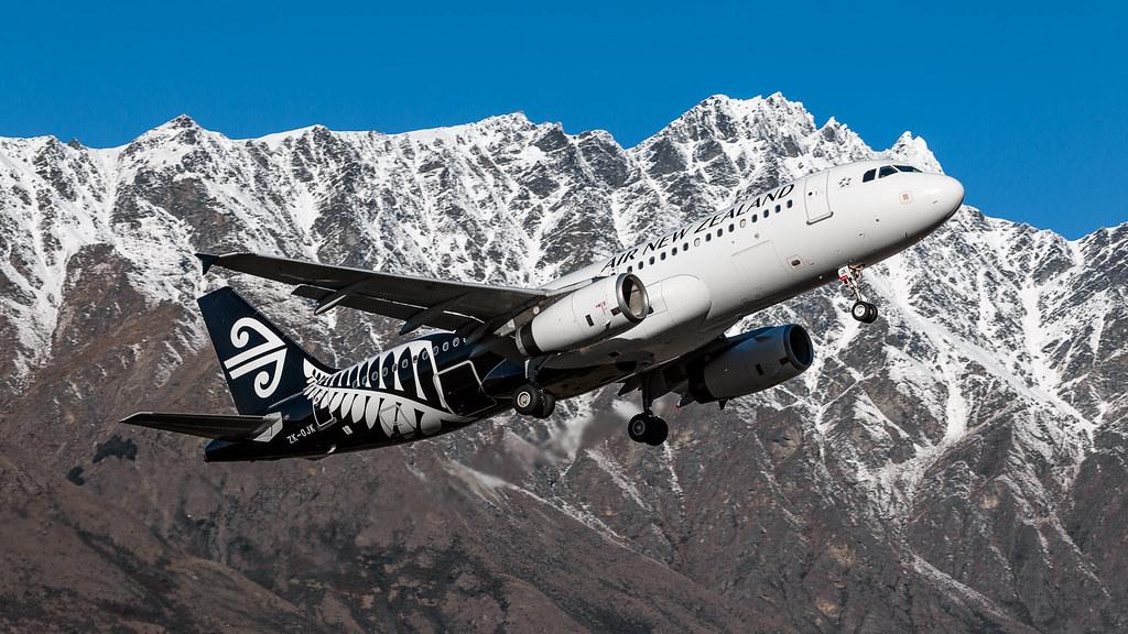 Air New Zealand A320-200 ZK-OJK Queenstown
