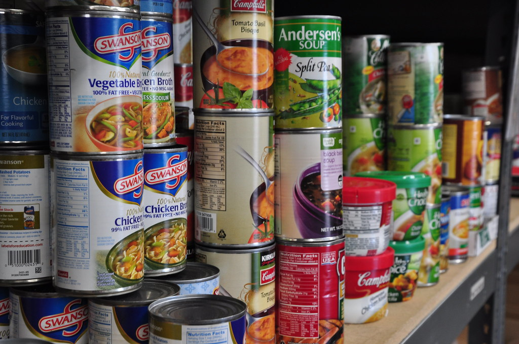 Collection of canned food items in the pantry | Salvation Army USA West |  Flickr