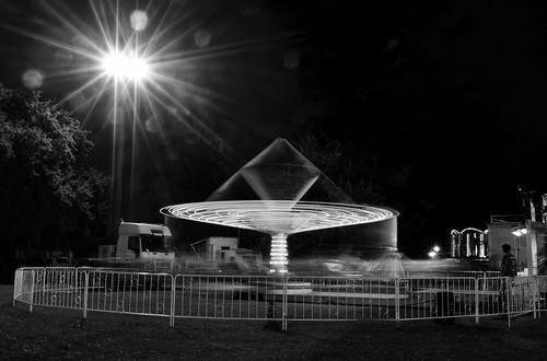 show carnival light bw motion night rural lights mono movement nikon action australia fair monotone victoria spinning vic rotating gippsland warragul agriculturalshow warragulshow d5100 nikond5100 phunnyfotos
