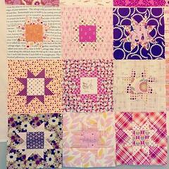 Penelope's pink & purple quilt
