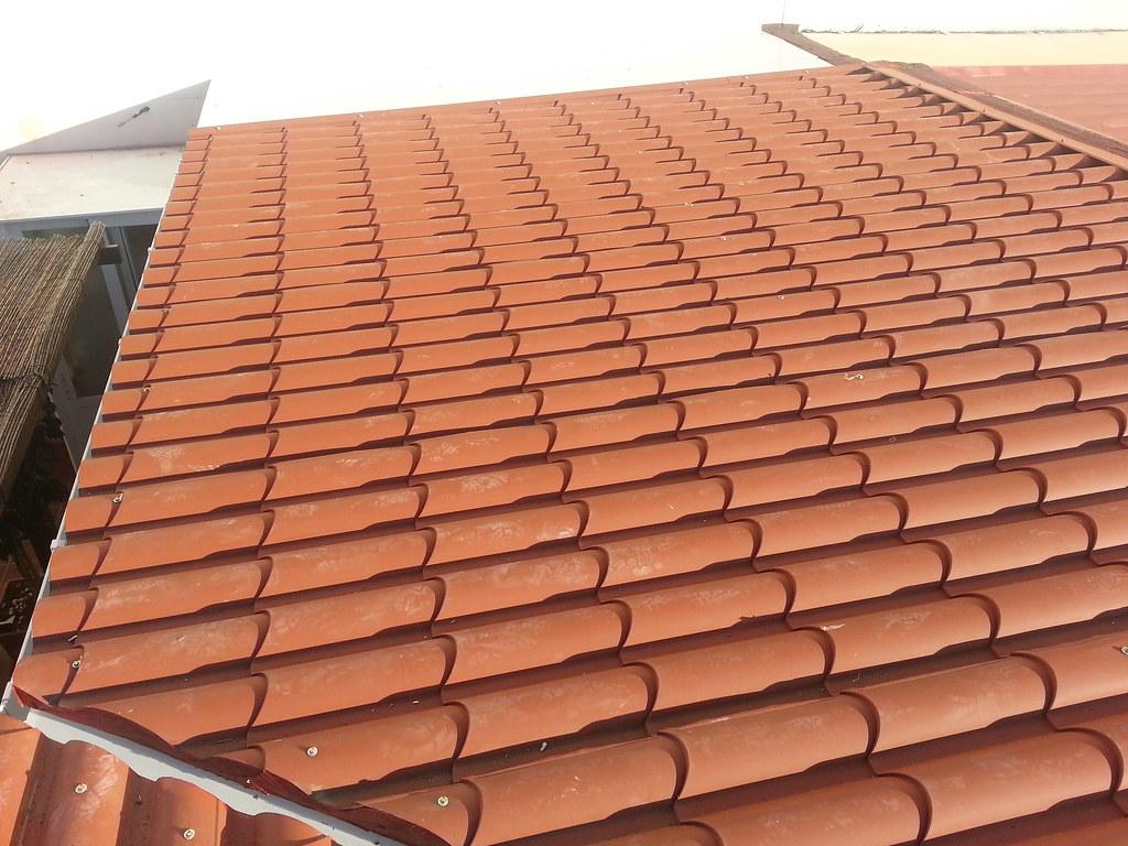 techo de panel teja.