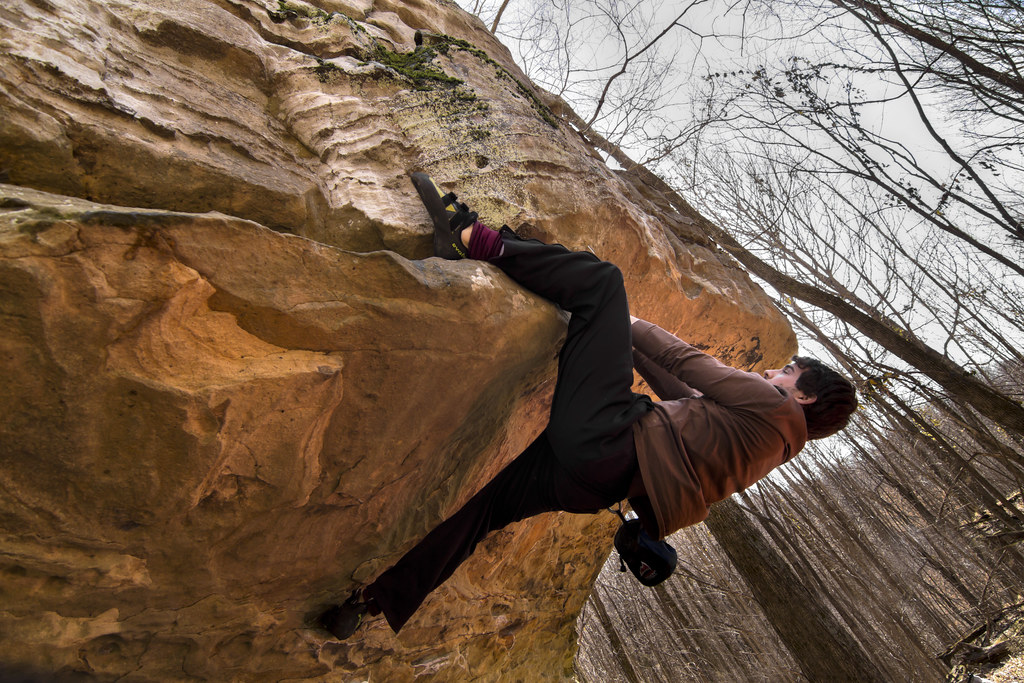 Kolby Demers, Bouldering, Sheeps Bluff, Putnam Co, TN