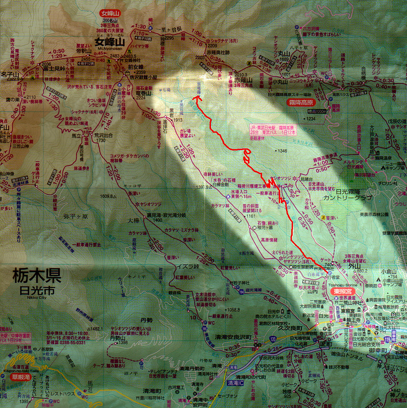 雲竜氷爆の地図