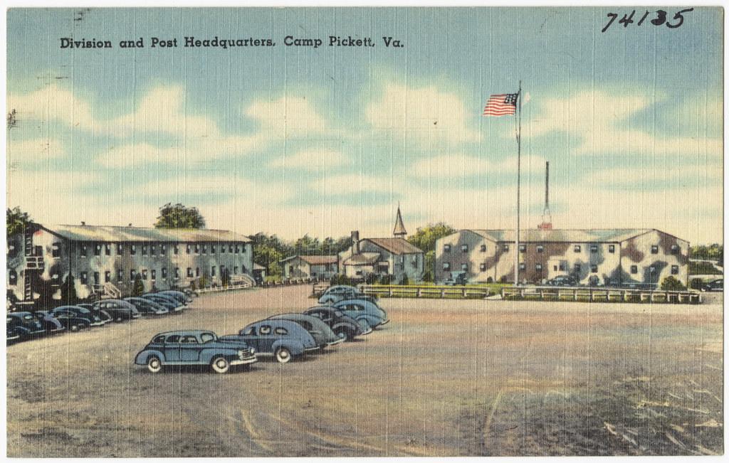 Division and post headquarters, Camp Pickett, Va.   File ...
