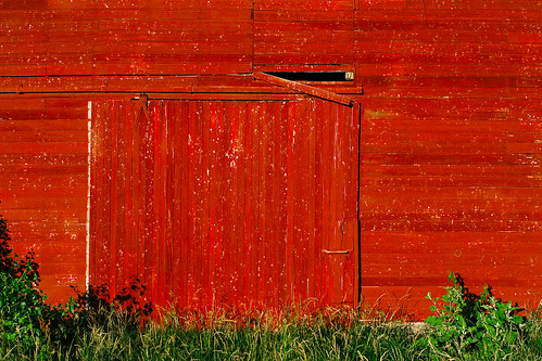 wood red grass barn rural broudside
