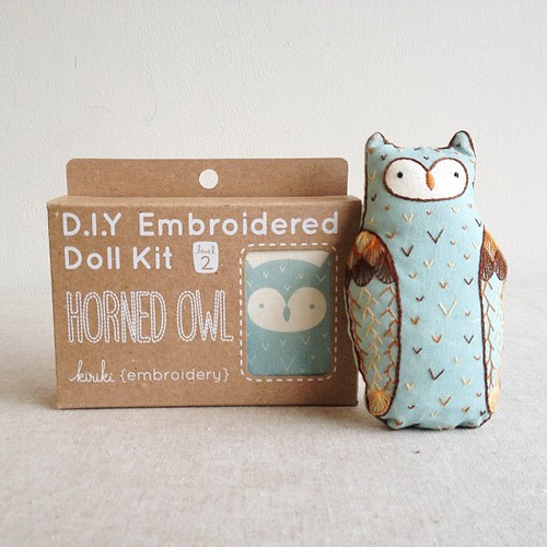 CUTE!! @art_attic stitched up the Horned Owl doll. | by make_something