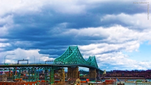 city bridge metal clouds photoshop montreal hdr springtime jacquescartierbridge 2013 brunolaliberté