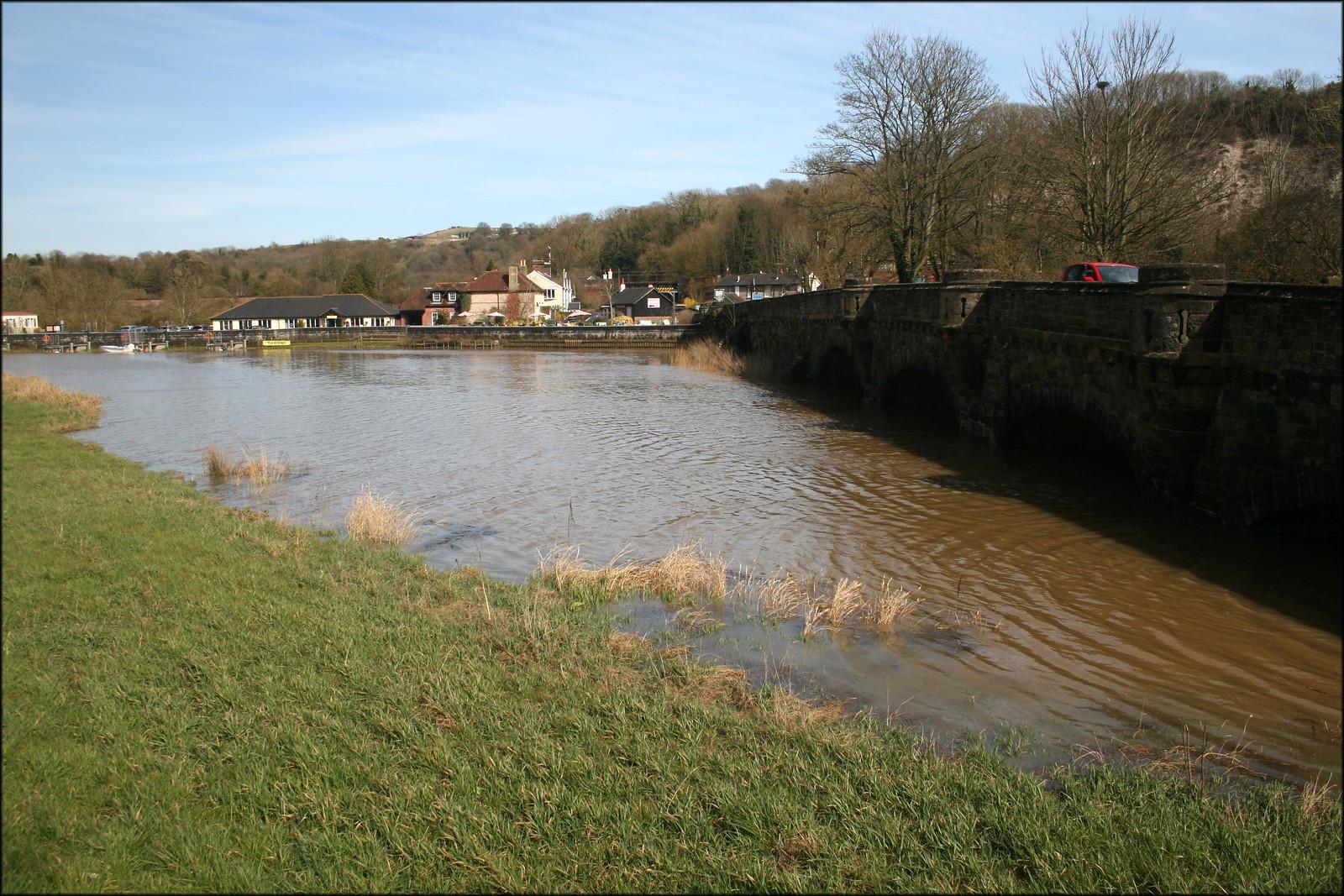The River Arun at Amberley Station