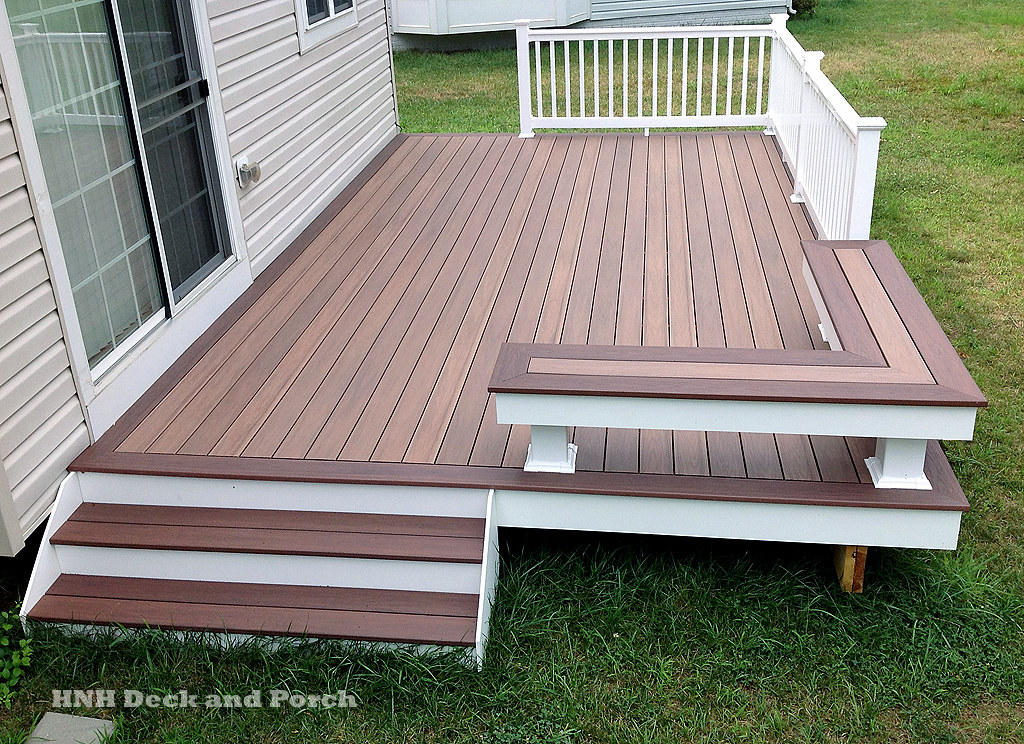 Wolf PVC Deck | Vinyl patio deck using Wolf PVC Decking with… | Flickr