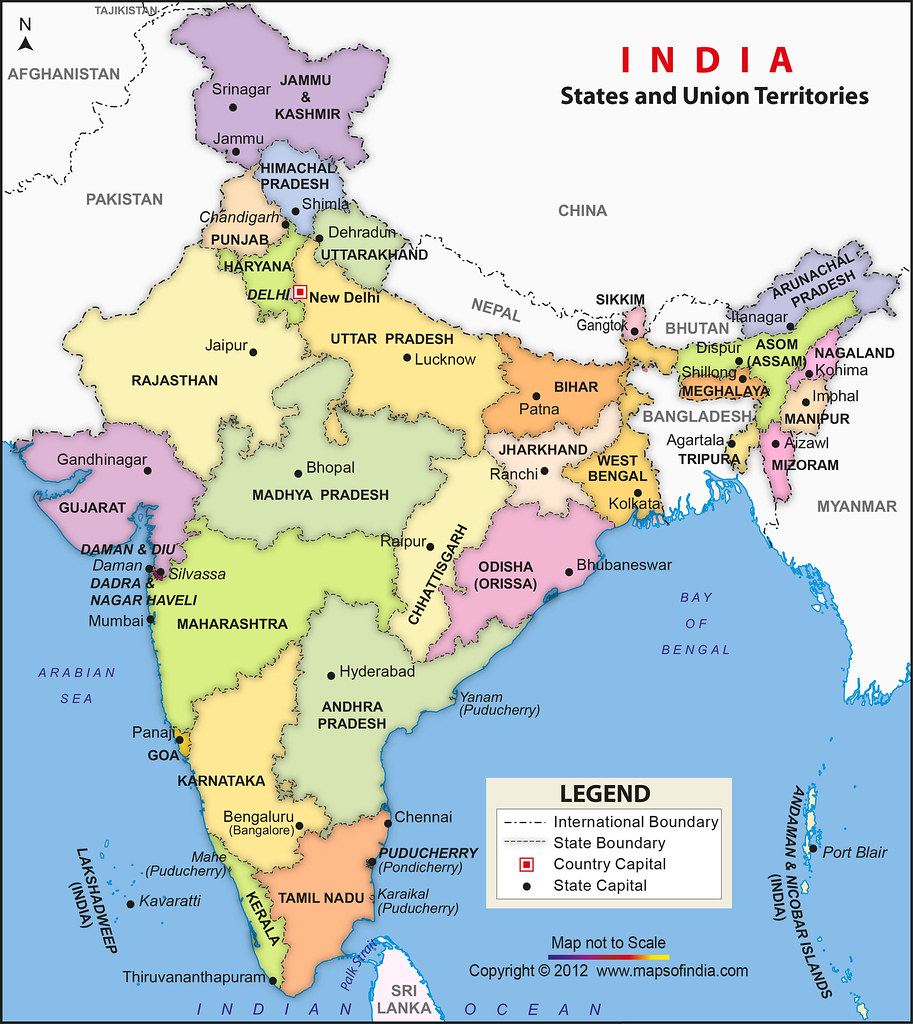 India Political Map | Jaya Kamlani | Flickr