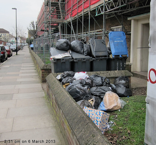105-110 Holcombe Road - Haringey's fortnightly general waste collection doesn't always work