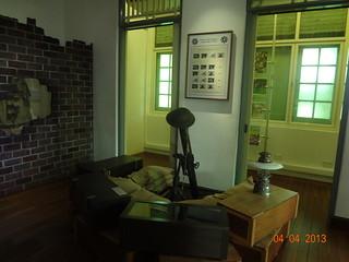 Mortar on display at Reflections at Bukit Chandu