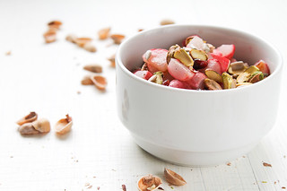 Roasted Radish, Dried Fruit and Pistachio Salad | by Migle Seikyte