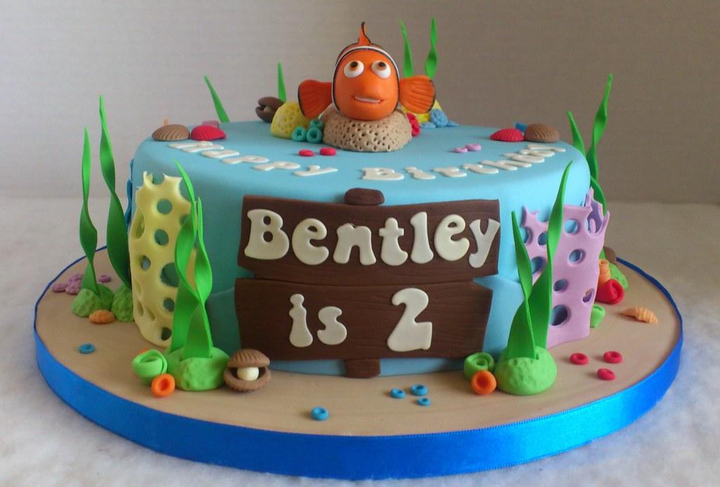 Superb Finding Nemo Birthday Cake Liz Flickr Funny Birthday Cards Online Drosicarndamsfinfo