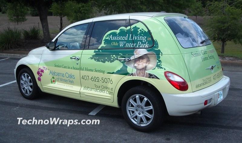 Wrapped PT Cruiser car in Orlando