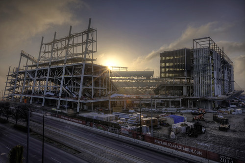 sanfrancisco building fog architecture clouds sunrise canon stadium 49ers bayarea santaclara 1635mmf28l mshaw 5dmark2 canoneos5dmarkll