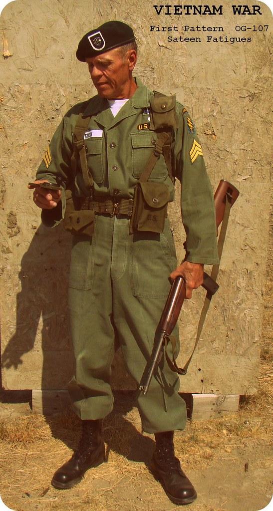 Vietnam War / Special Forces OG-107 Utilities Early 1960's… | Flickr